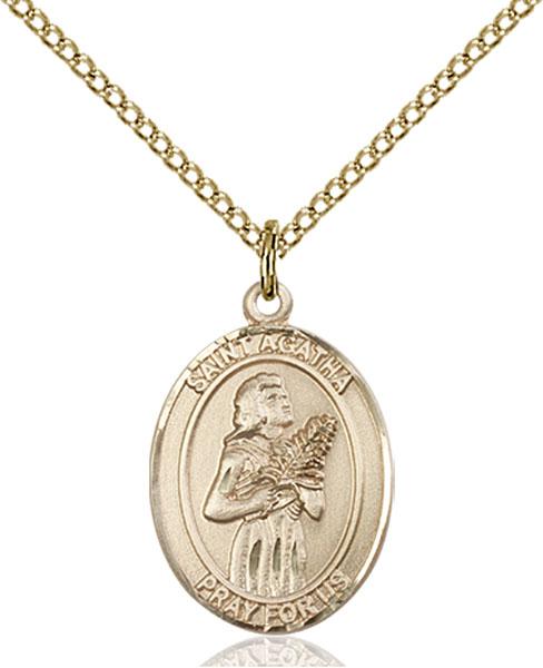 Gold-Filled St. Agatha Pendant