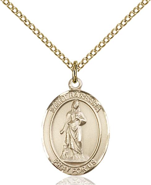 Gold-Filled St. Barbara Pendant