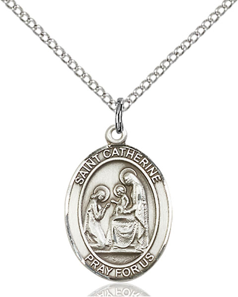 Sterling Silver St. Catherine of Siena Pendant
