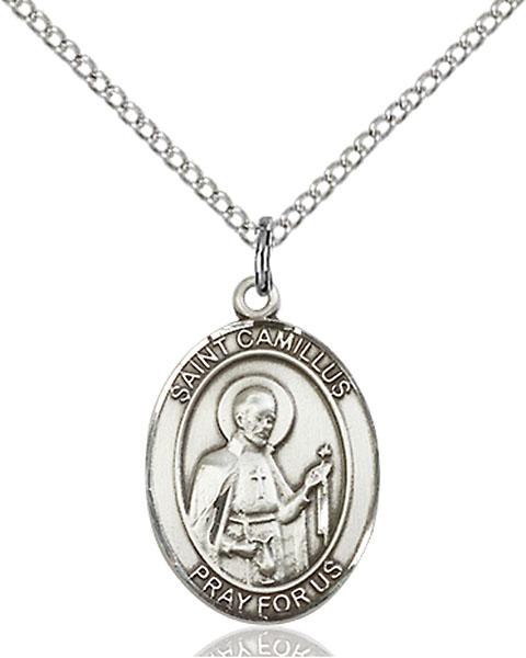Sterling Silver St. Camillus of Lellis Pendant