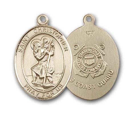 Gold-Filled St. Christopher Coast Guard Pendant