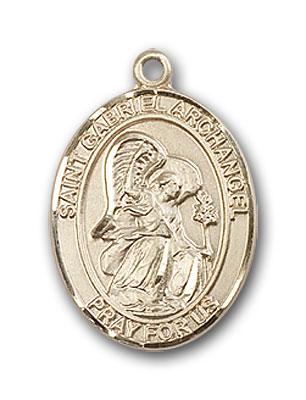 14K Gold St. Gabriel the Archangel Pendant