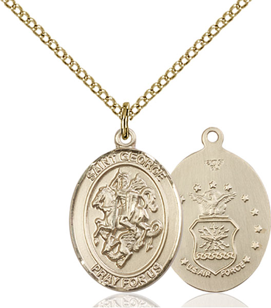 Gold-Filled St. George Air Force Pendant