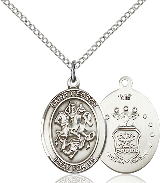 Sterling Silver St. George Air Force Pendant