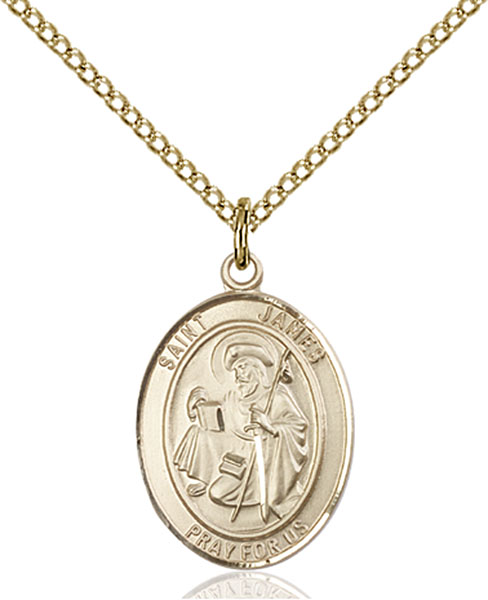Gold-Filled St. James the Greater Pendant