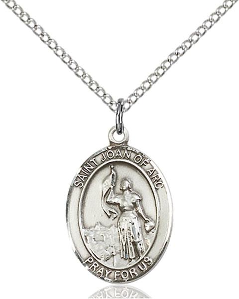 Sterling Silver St. Joan of Arc Pendant