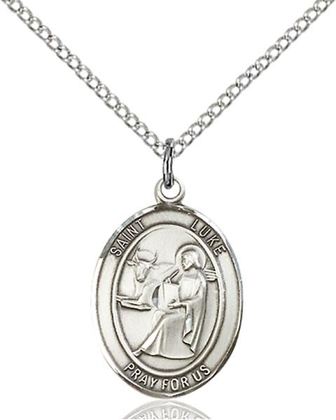 Sterling Silver St. Luke the Apostle Pendant