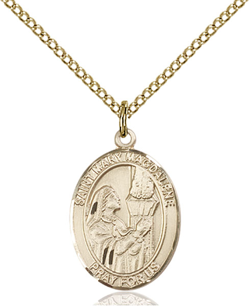 Gold-Filled St. Mary Magdalene Pendant