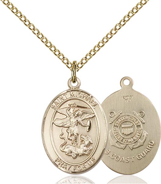 Gold-Filled St. Michael Coast Guard Pendant