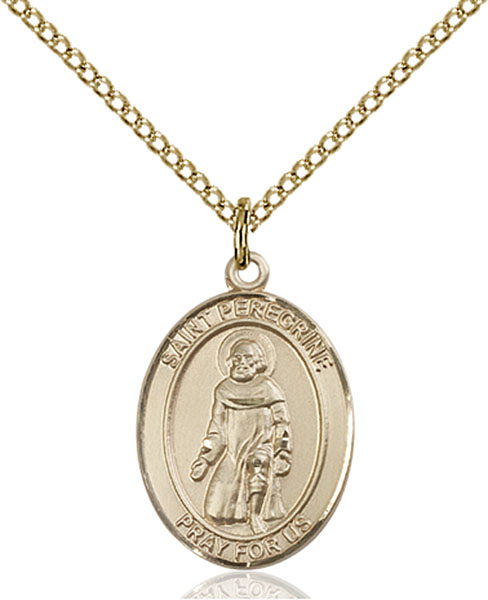 Gold-Filled St. Peregrine Laziosi Pendant