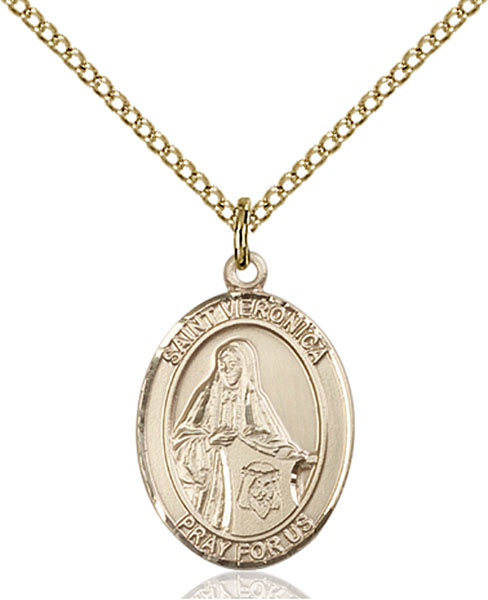 Gold-Filled St. Veronica Pendant