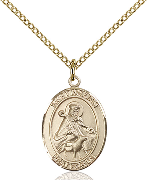 Gold-Filled St. William of Rochester Pendant