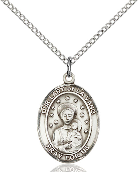 Sterling Silver Our Lady of La Vang Pendant
