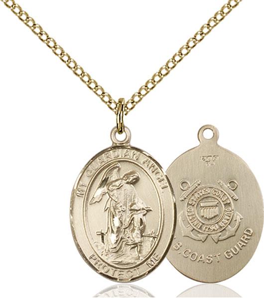 Gold-Filled Guardian Angel Coast Guard Pendant