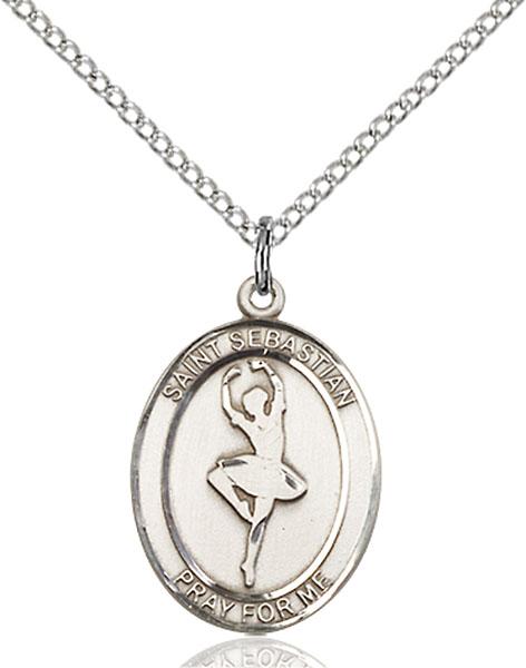 Sterling Silver St. Sebastian Dance Pendant
