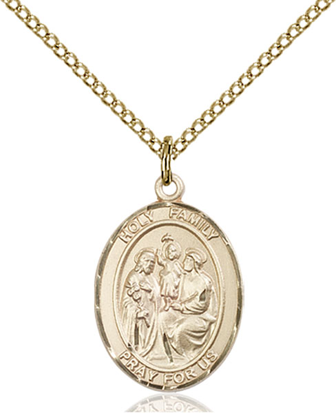 Gold-Filled Holy Family Pendant