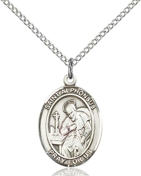 Sterling Silver St. Alphonsus Pendant