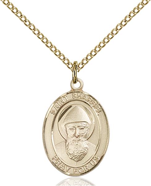 Gold-Filled St. Sharbel Pendant