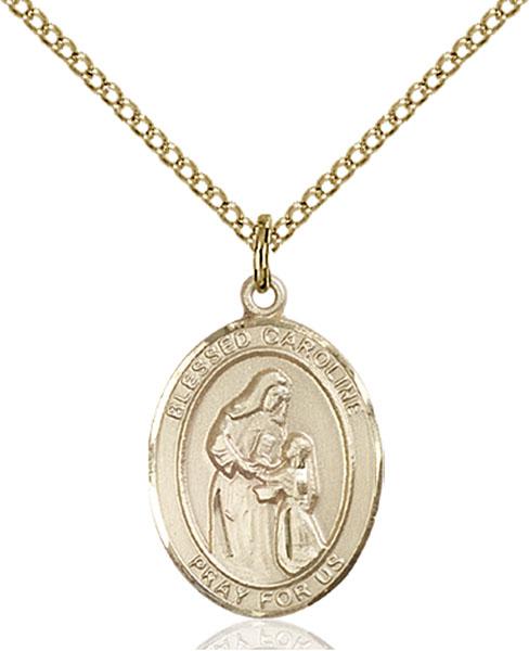 Gold-Filled Blessed Caroline Gerhardinger Pendant
