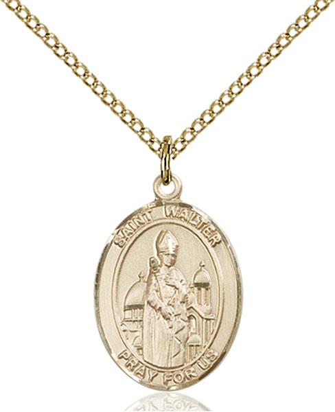 Gold-Filled St. Walter of Pontnoise Pendant