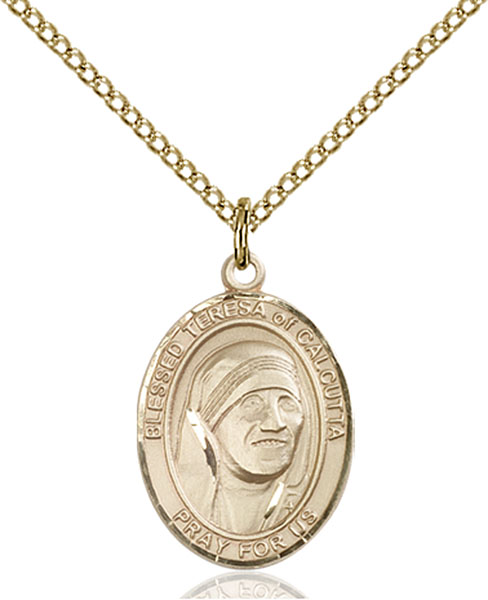 Gold-Filled Blessed Teresa of Calcutta Pendant