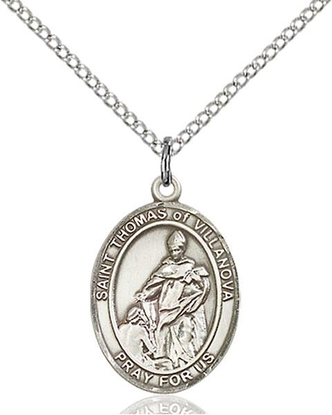 Sterling Silver St. Thomas of Villanova Pendant