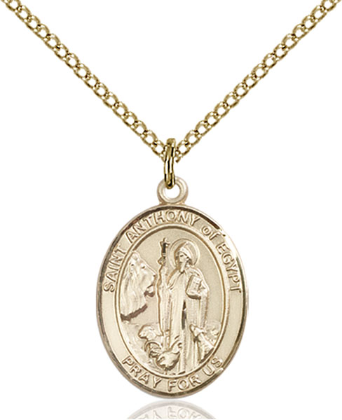 Gold-Filled St. Anthony of Egypt Pendant
