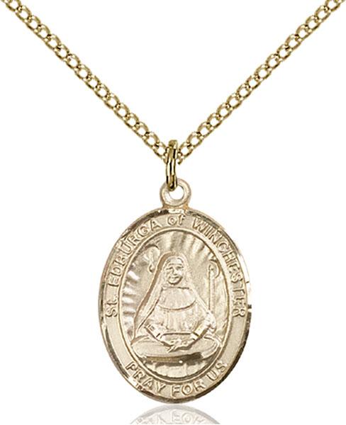 Gold-Filled St. Edburga of Winchester Pendant