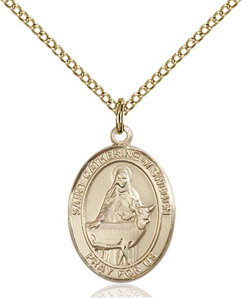 Gold-Filled St. Catherine of Sweden Pendant