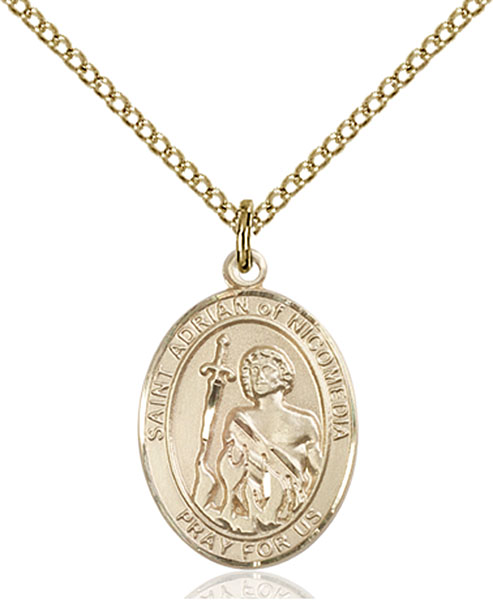 Gold-Filled St. Adrian of Nicomedia Pendant