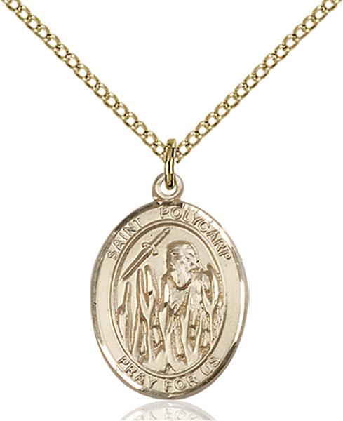 Gold-Filled St. Polycarp of Smyrna Pendant