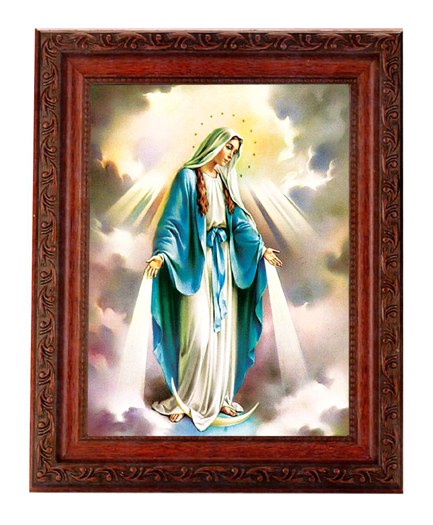 """Our Lady Of Grace 6X8 Print In 8.25X10.25"""" Ornate Wd Frame"""