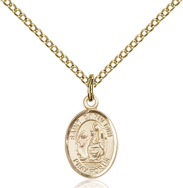Gold-Filled St. Catherine of Siena Pendant