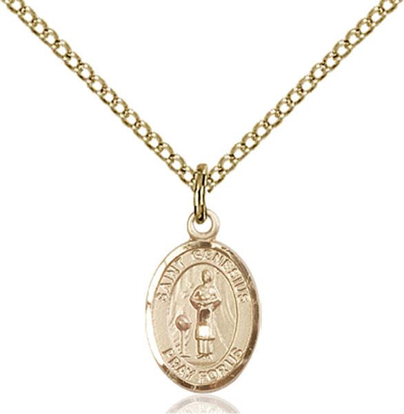 Gold-Filled St. Genesius of Rome Pendant