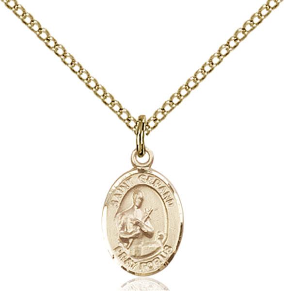 Gold-Filled St. Gerard Majella Pendant
