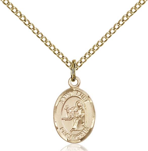 Gold-Filled St. Luke the Apostle Pendant