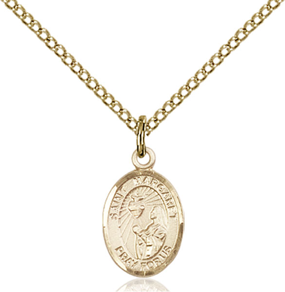 Gold-Filled St. Margaret Mary Alacoque Pendant