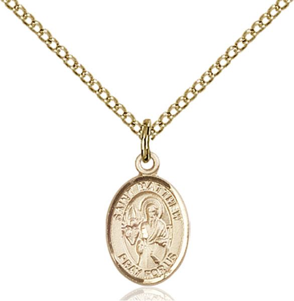 Gold-Filled St. Matthew the Apostle Pendant