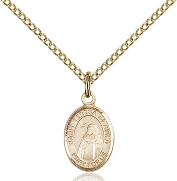 Gold-Filled St. Teresa of Avila Pendant
