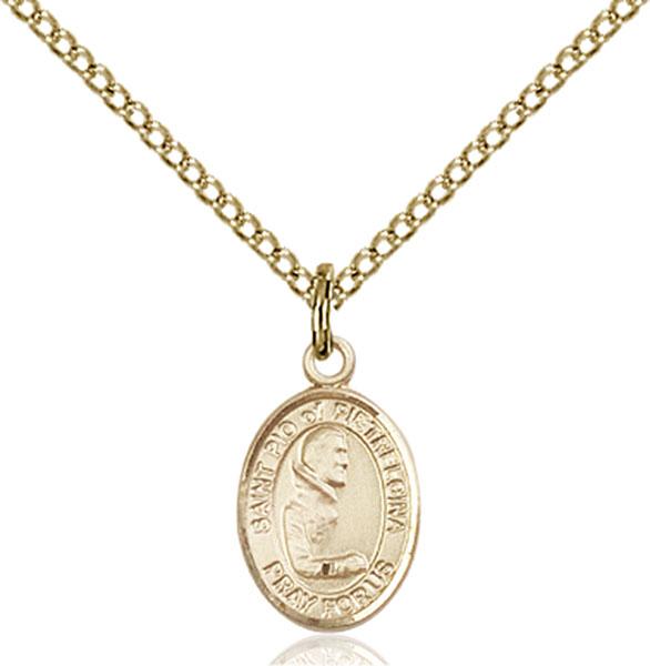Gold-Filled St. Pio of Pietrelcina Pendant