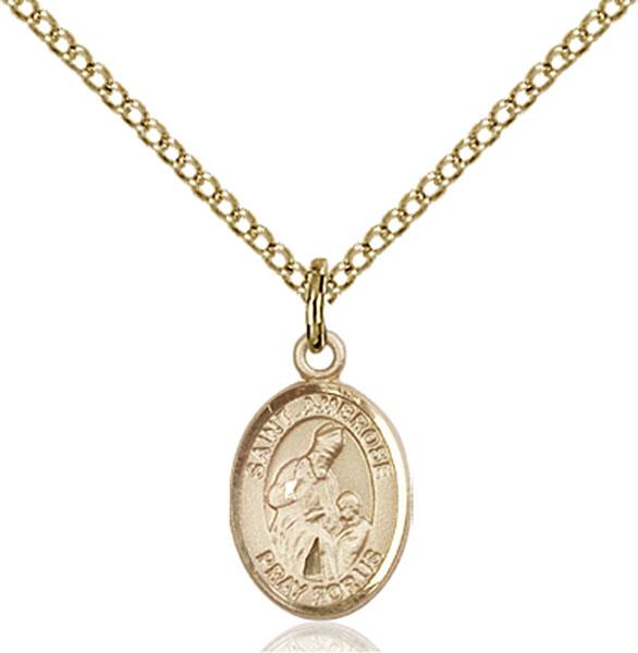 Gold-Filled St. Ambrose Pendant
