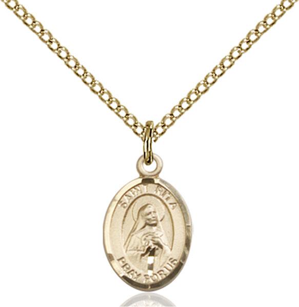 Gold-Filled St. Rita of Cascia Pendant