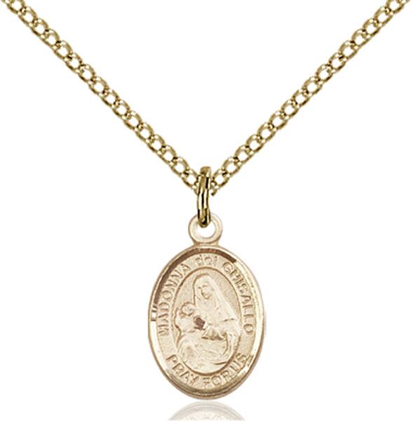 Gold-Filled St. Madonna Del Ghisallo Pendant