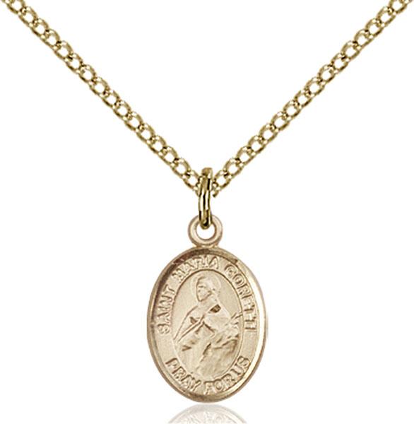 Gold-Filled St. Maria Goretti Pendant