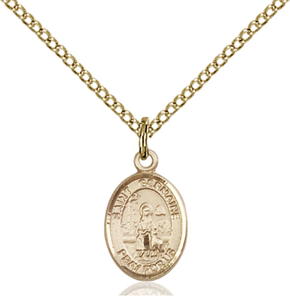 Gold-Filled St. Germaine Cousin Pendant