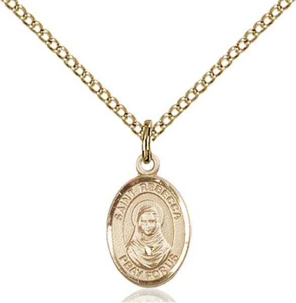 Gold-Filled St. Rebecca Pendant