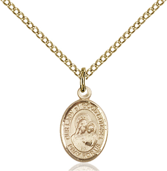 Gold-Filled Our Lady of Good Counsel Pendant