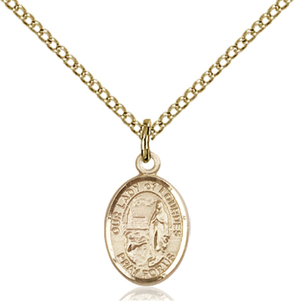 Gold-Filled Our Lady of Lourdes Pendant