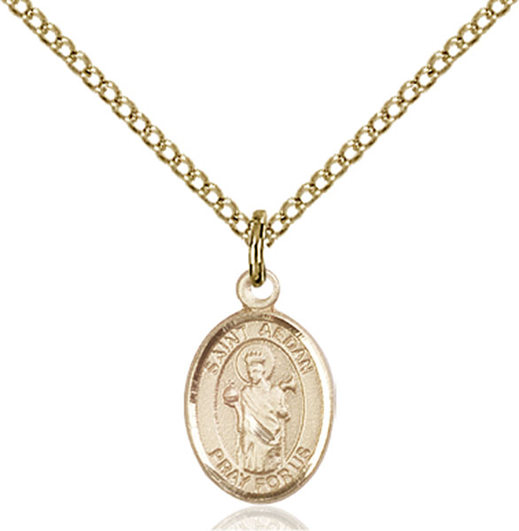 Gold-Filled St. Aedan of Ferns Pendant