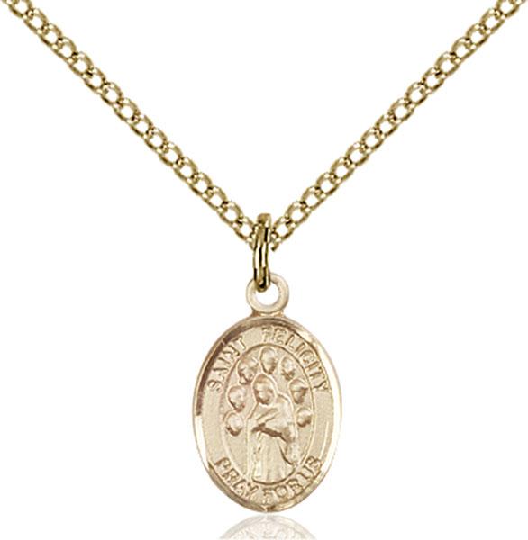 Gold-Filled St. Felicity Pendant